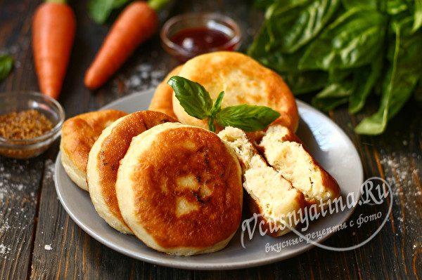 пирожки с сырно-творожной начинкой