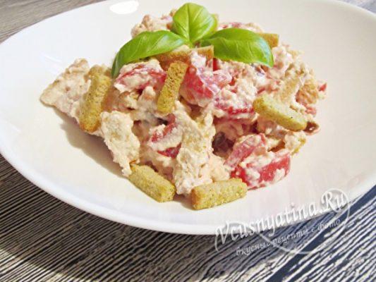 оригинальный салат с помидорами