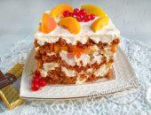 Овсяно-сметанный торт