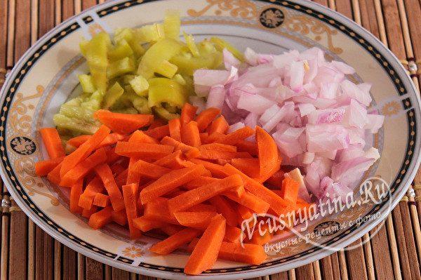 измельченные овощи