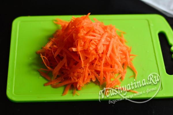 тертая свежая морковь