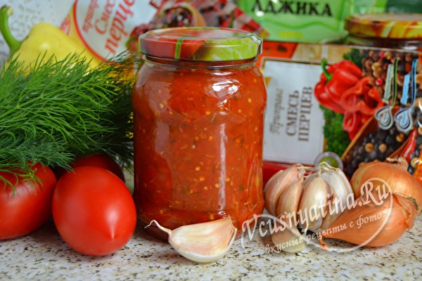 томатная острая аджика