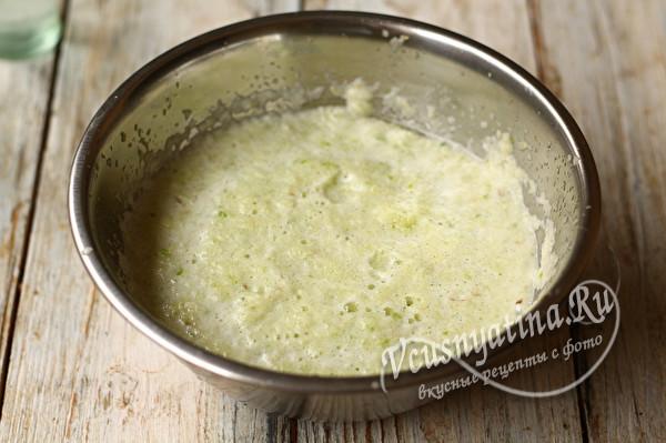 измельчить в пюре овощи