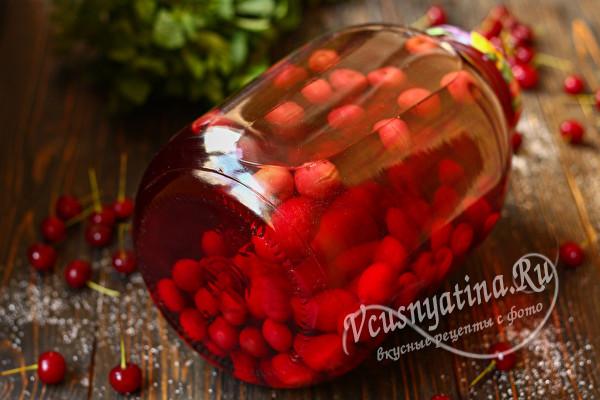 вишневый компот без стерилизации