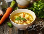 суп с клецками и курицей