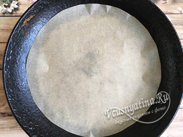 бумага на сковороде
