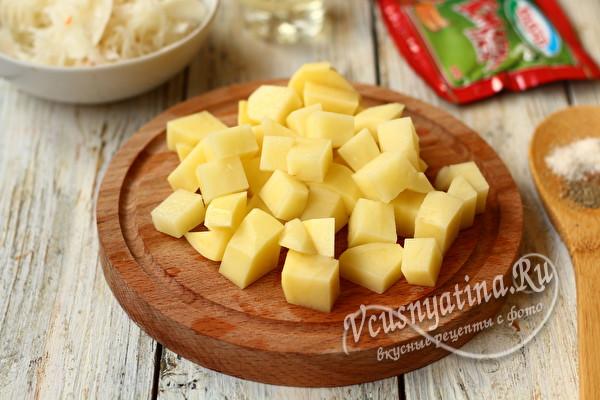 картошка на щи