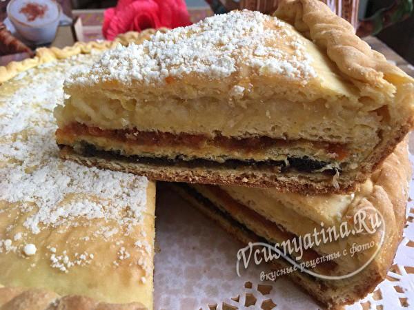 татарский пирог с сухофруктами