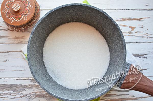 сахар в казанке