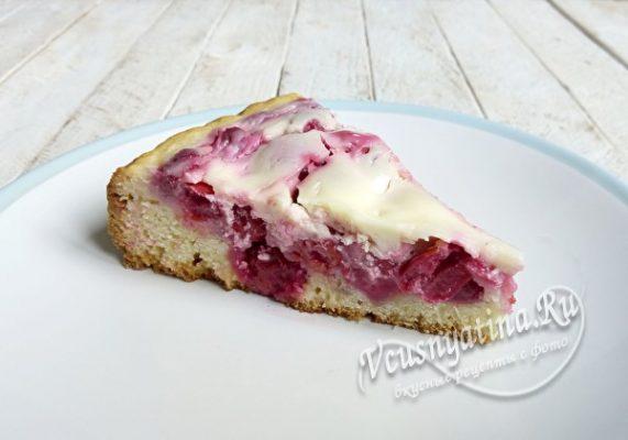 вишневый пирог с заливкой