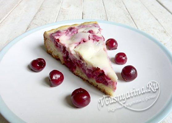 Кусочек вишневого пирога