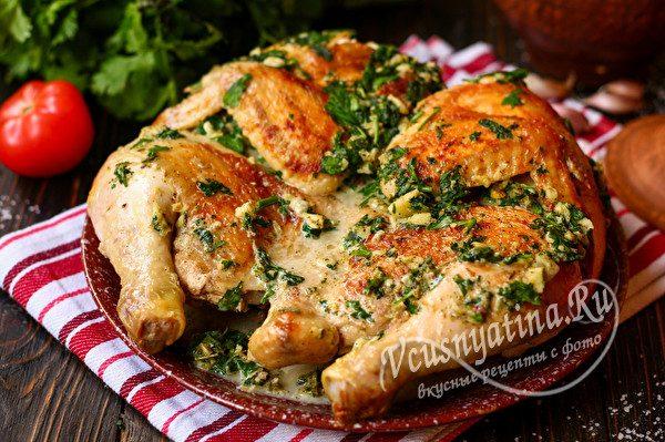 Цыпленок чкмерули по-грузински