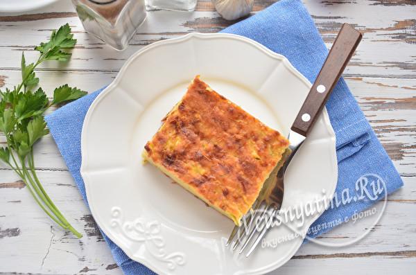 пирог из кабачков, сыра и майонеза