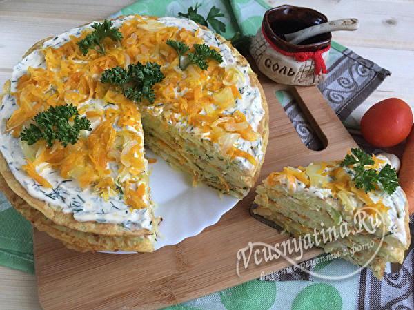 кабачковый торт готов