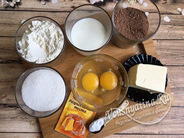 ингредиенты для теста
