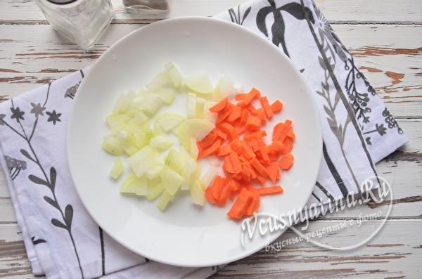 луки морковь на суп