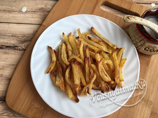 картошка фри готова