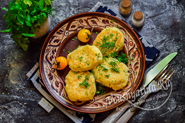 овощные котлеты из картошки