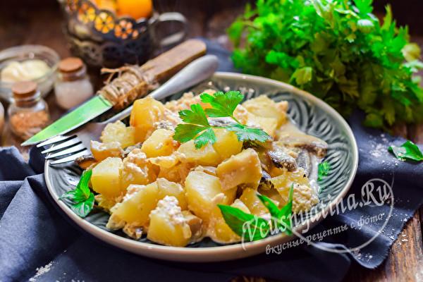 жаренная картошка в сливках