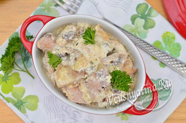 тушеное блюдо из курицы
