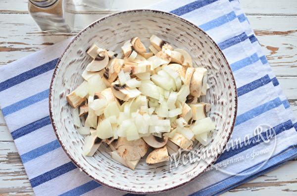 грибы с луком