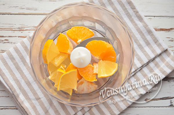 лимон в чаше блендера