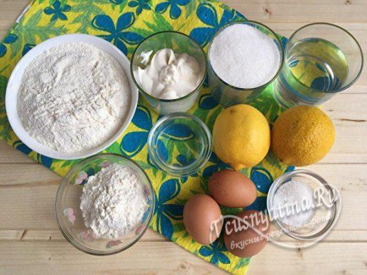 необходимые продукты для пирога