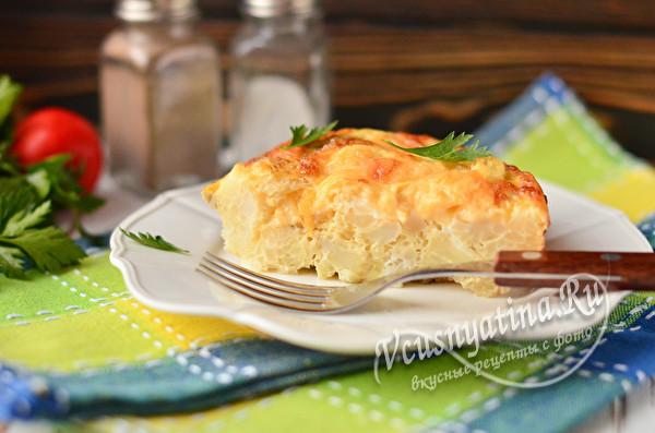 омлет из яиц и капусты