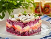 Салат с сельдью и свеклой