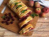 штрудель с яблоками и вишней