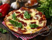 Супер быстрая пицца на сковороде