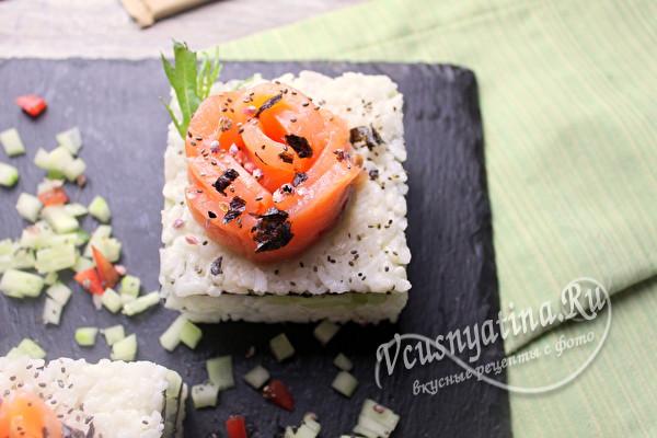 суши-торт с нори