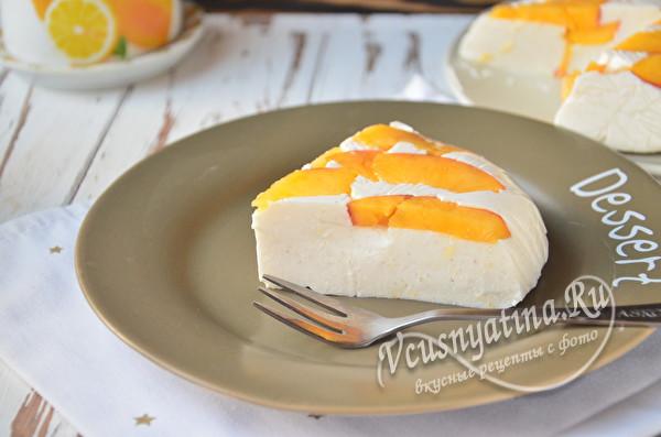 кусочек творожного торта