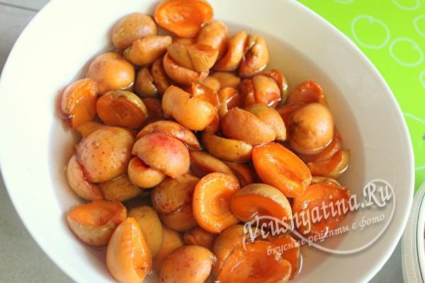 настоять абрикосы