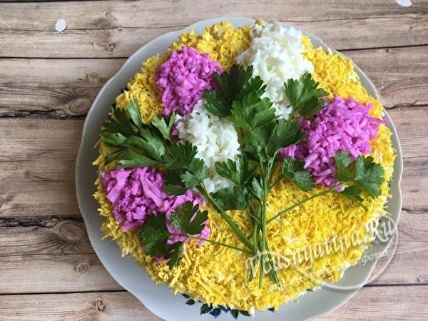 сформировать цветы сирени