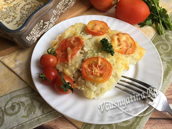 Запеканка из кабачков и картофеля с фаршем