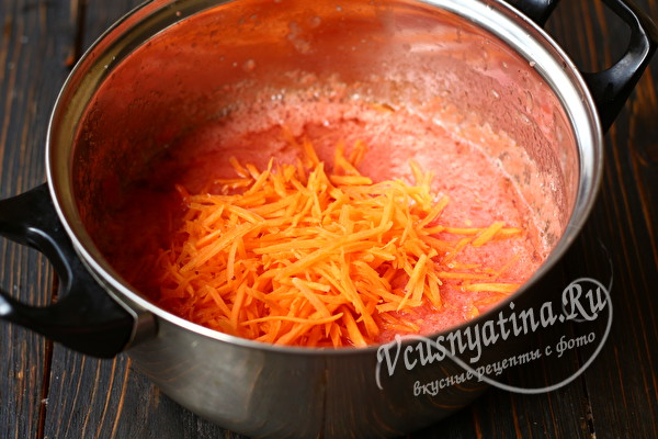 морковь и томатное пюре
