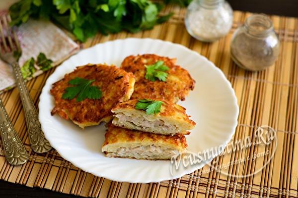 мясно-картофельные драники