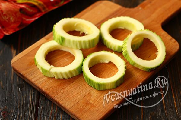 кольца из кабачка