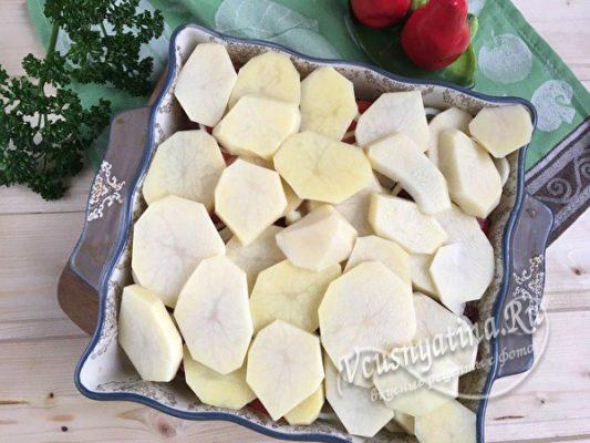 слой картофеля верхний