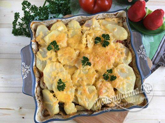 готовое блюдо из картофеля