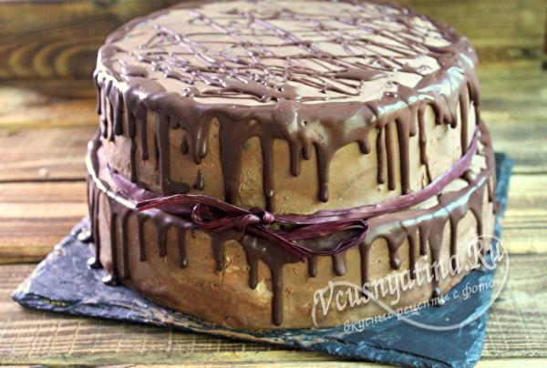 торт со сливочно-сметанным кремом