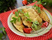 куриное филе в сухарях