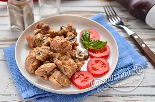 готовая тушеная курица