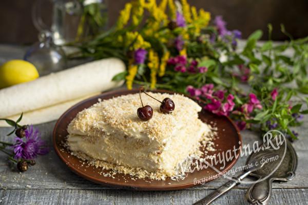 тортик Наполеон из лаваша