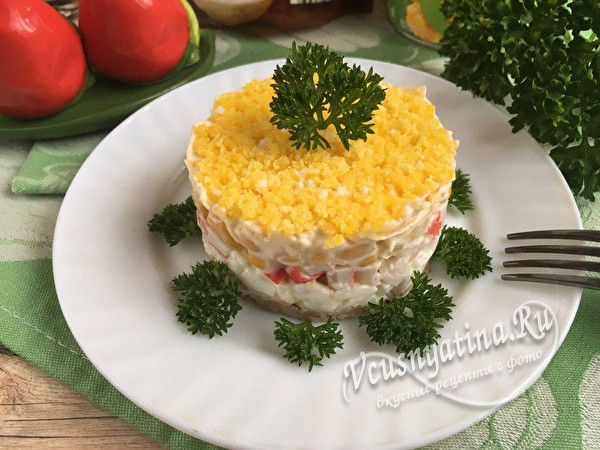 готовый слоеный салат