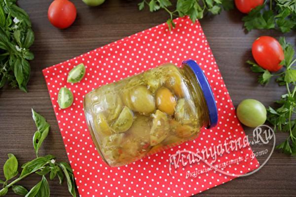 заготовленные на зиму зеленые томаты