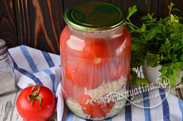 томаты в снегу