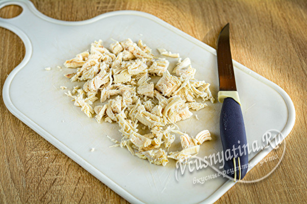 нарезанное вареное филе