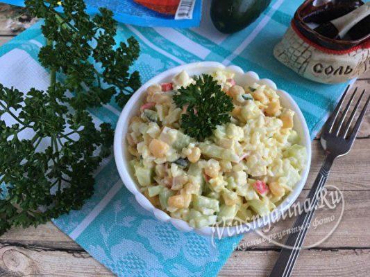 крабовый салата с рисом